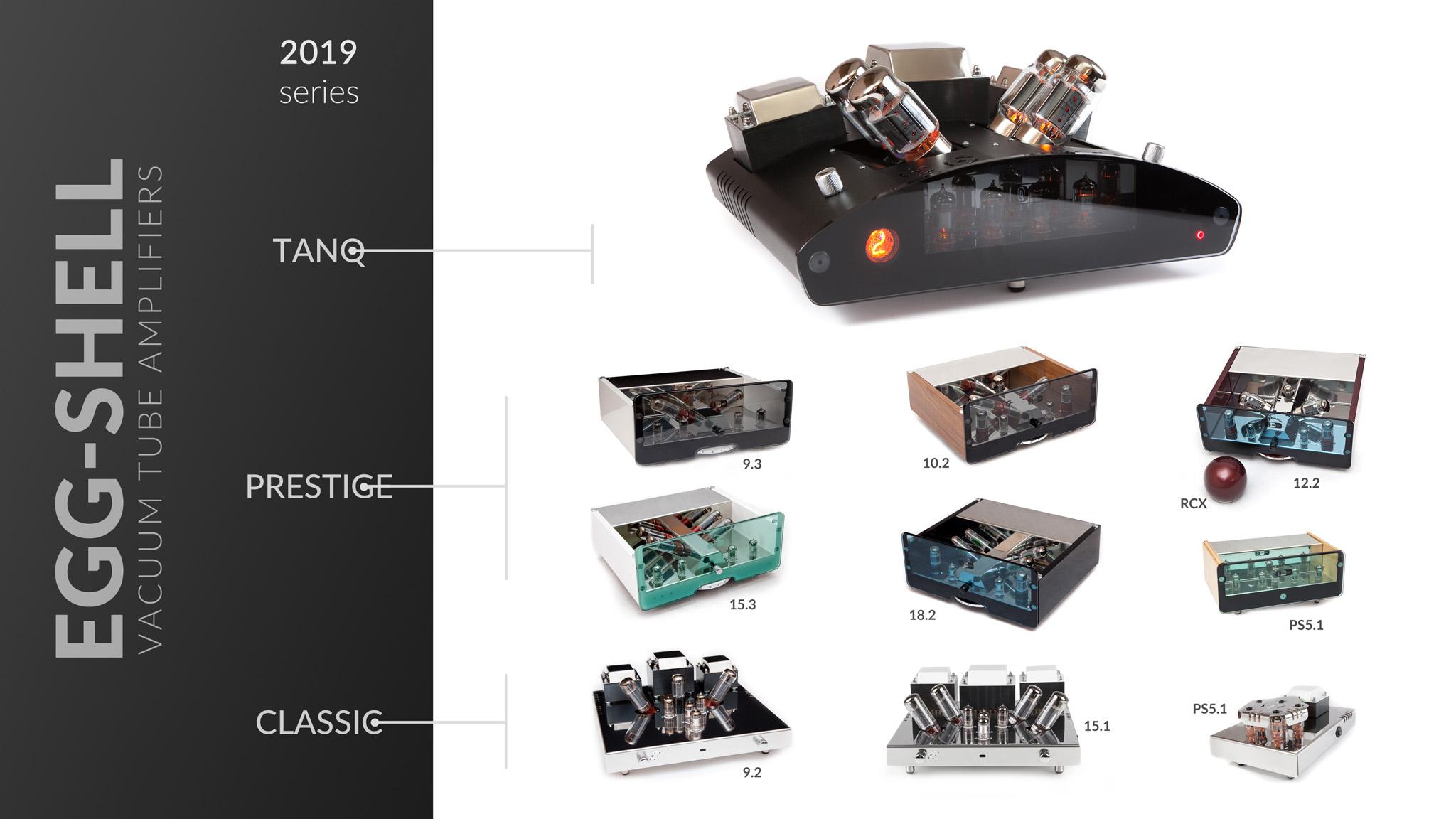 Wzmacniacze lampowe EGG-SHELL modele 2019